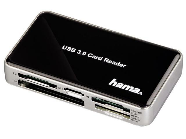 Четец за карти HAMA 39878, All in 1, USB 3.0, SD/micro SD/CF/MS/xD