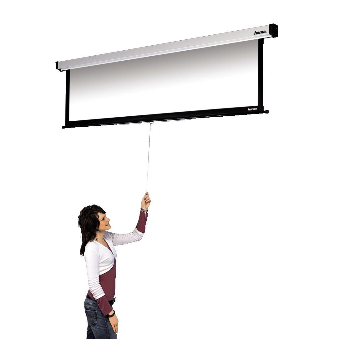 Проекторен екран за стена HAMA 18787, 240 x 195, 4:3