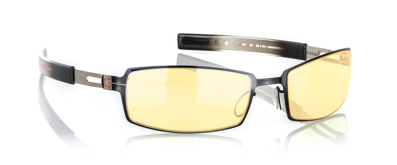 Геймърски очила GUNNAR, PPK Onyx/Mercury, Amber, Сребрист