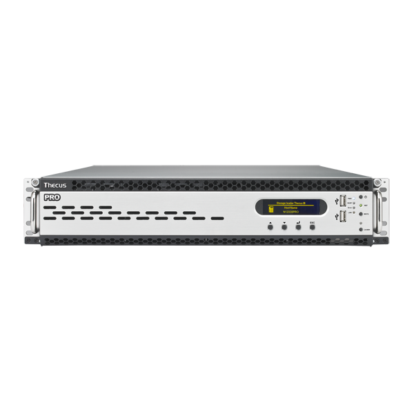 Мрежов сторидж Thecus 2U rack mount NAS N12000PRO 12 диска до 120TB, Intel Xeon E3-1275 3.4Ghz ,8GB DDR3 , Redundant  power supply
