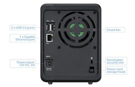 Мрежов сторидж ZyXEL NAS 320S, за 2 диска, до 12TB, Гигабит, USB2.0