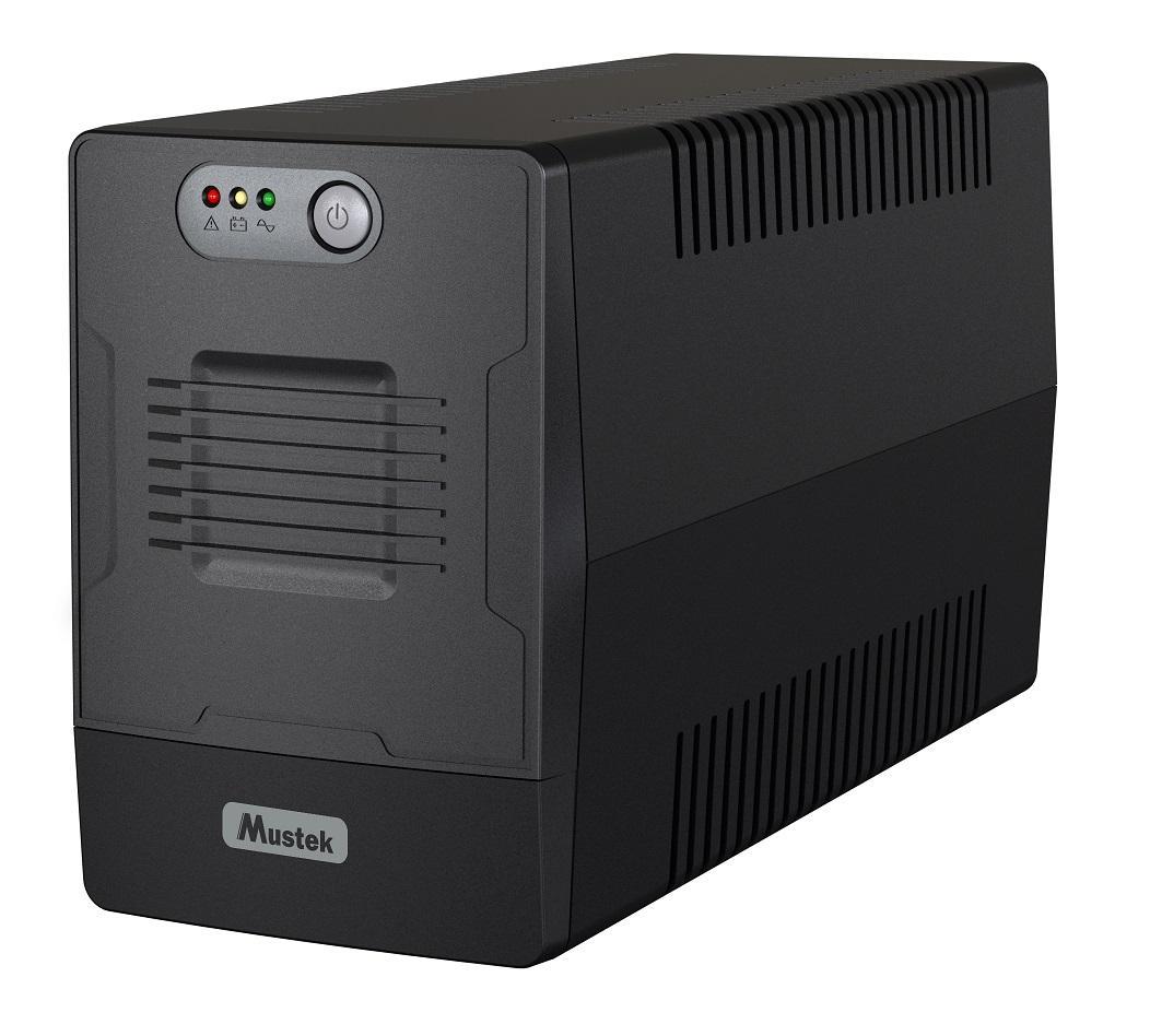 UPS MUSTEK PowerMust 1000-LED-LI-T10, 1000VA/600W Schuko (шуко), Line-Interactive
