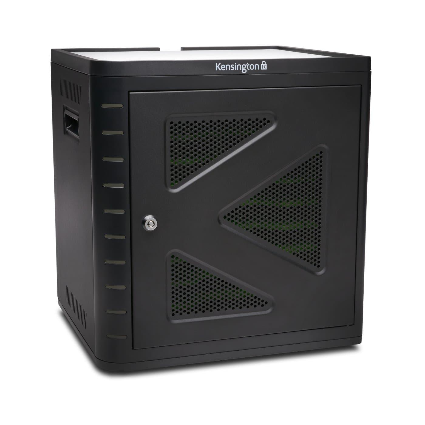 Универсален шкаф за зареждане и синхронизиране на таблети Kensington K67862EU, за 10 таблета, Черен