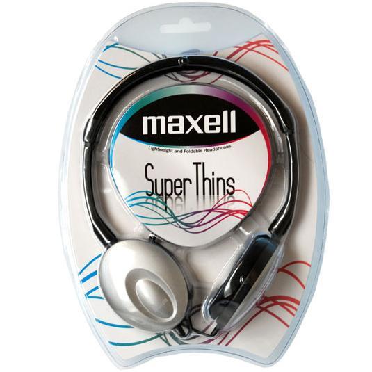 Слушалки MAXELL Super THIN, малки наушници, Сребрист