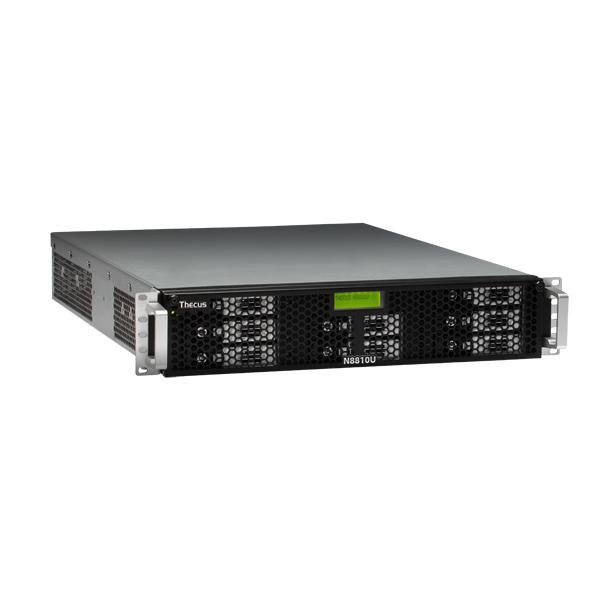 Мрежов сторидж Thecus 2U rack mount NAS N8810U 8 диска до 64TB, Intel G850 2.9Ghz, 4GB DDR3 ECC, USB2.0, USB 3.0, HDMI, VGA