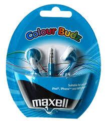 Слушалки  MAXELL color BUDS , In-Ear, Син