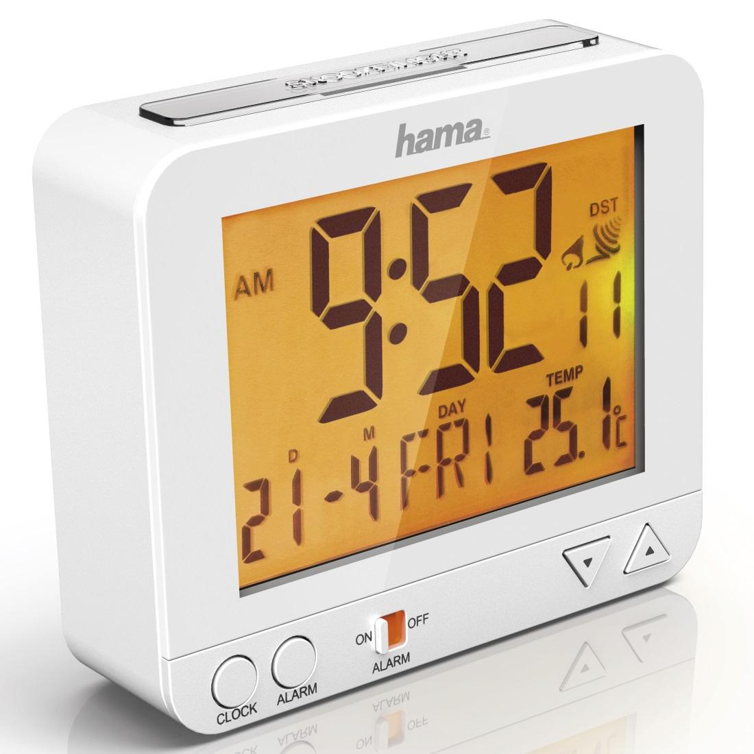 Радио часовник HAMA RC 550 136296, Бял
