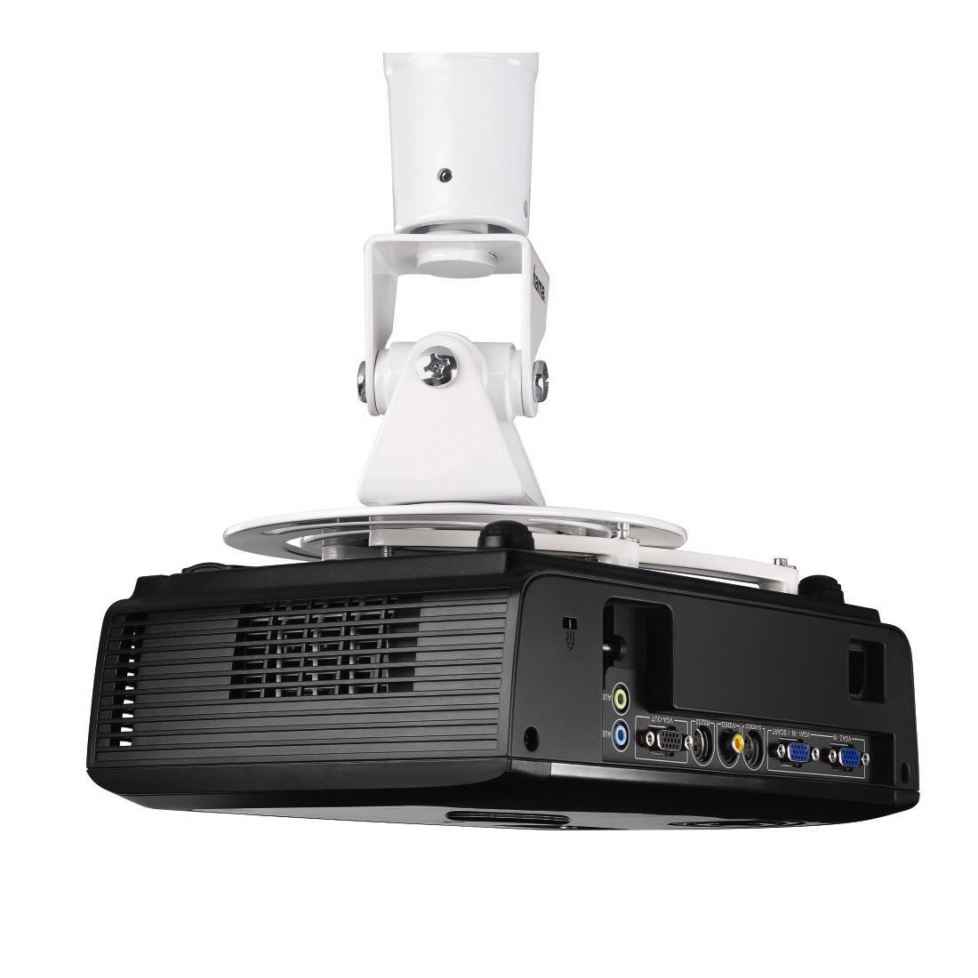 Таванна стойка за проектор HAMA 118610, 14 kg, Бяла