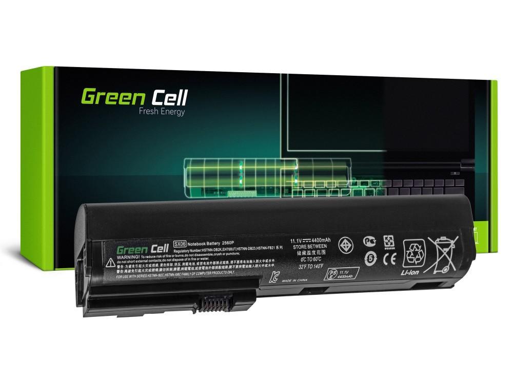 Батерия  за лаптоп HP Elitbook 2560p/2570p, 11.1V, 4400mAh, Черен, GREEN CELL