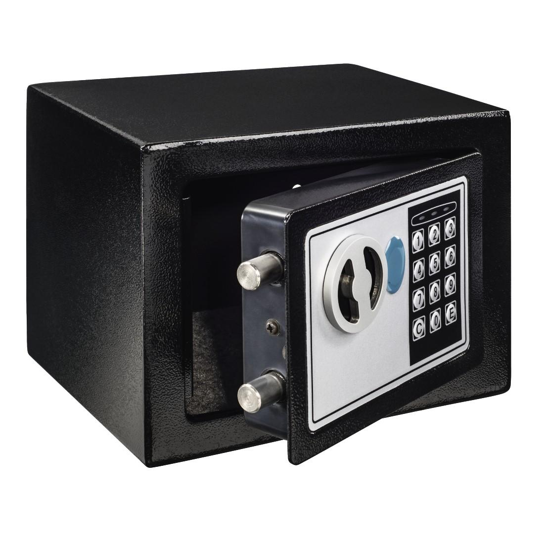 Електронен сейф HAMA Home EP-170, 23 x 17 x 17 cm, Черен