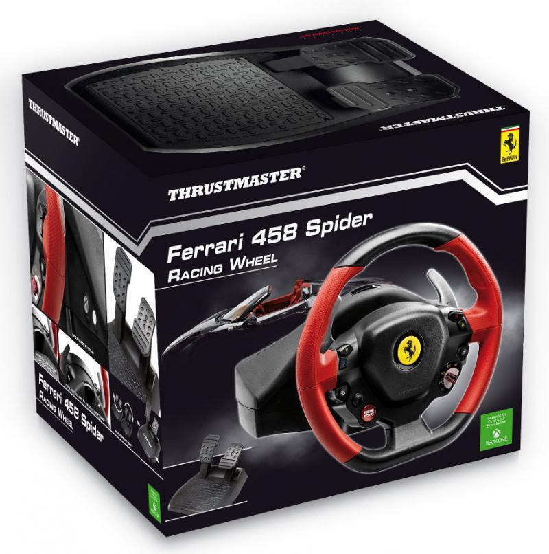 Волан THRUSTMASTER, Ferrari 458 Spider Racing Wheel, за XBox