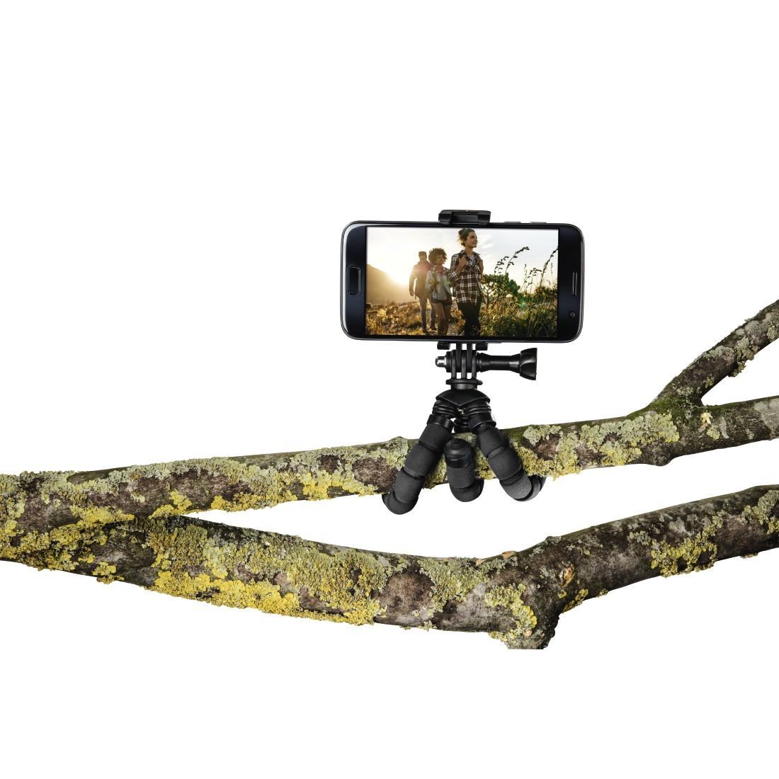 Мини статив HAMA Flex, за смартфони: 5.5- 7.8 cm, Черен