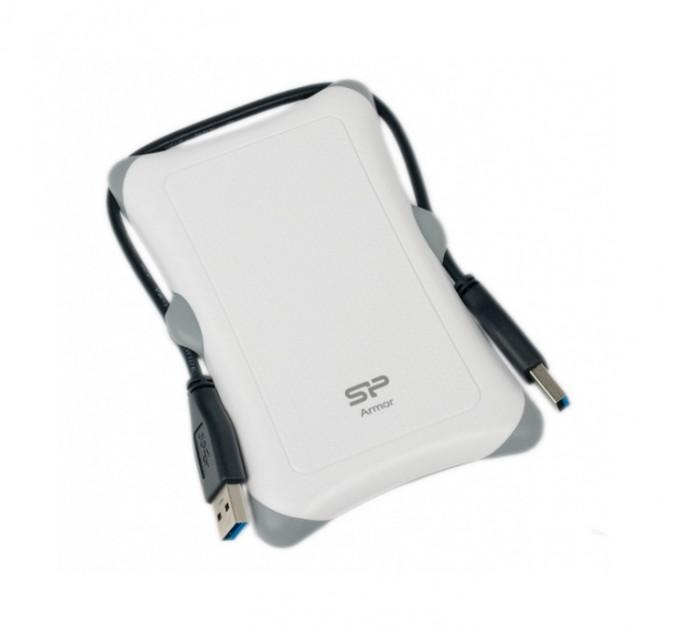 "Външен хард диск SILICON POWER  Armor A30 , 2.5"", 2TB, USB3.1, Бял"