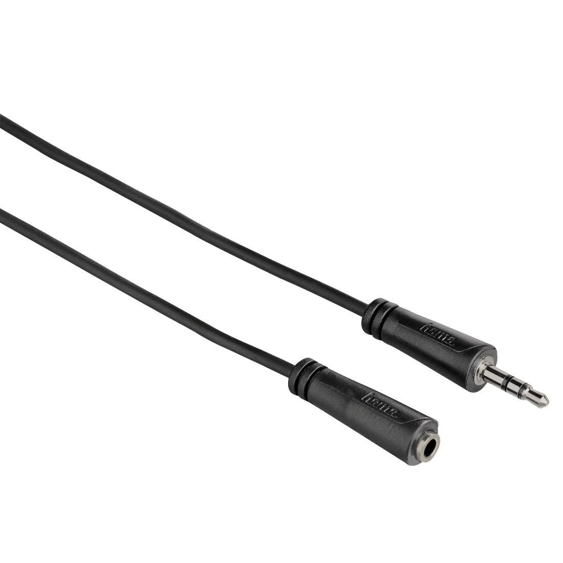 Аудио удължителен кабел HAMA 122313,  3.5 мм стерео жак мъжки/женски, 1.5м