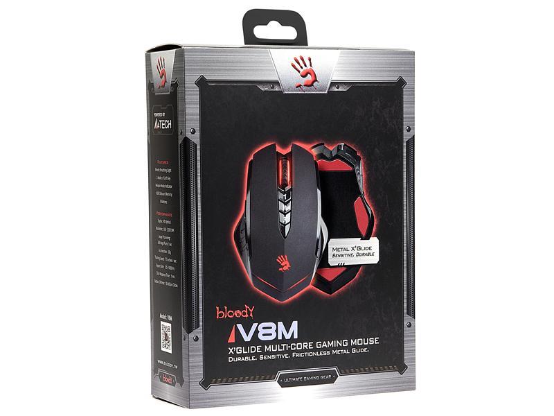 Геймърска мишка Bloody V8M, Оптична, Жична, USB
