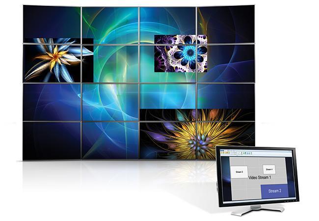 Софтуер Matrox MURA CTRLWF за контрол на видео стени