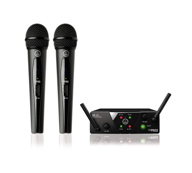 Система с 2 безжични микрофона AKG WMS40 Mini Dual Vocal Set