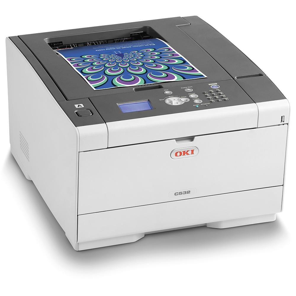 Цветен лазерен принтер OKI C532dn, A4, USB2.0, LAN
