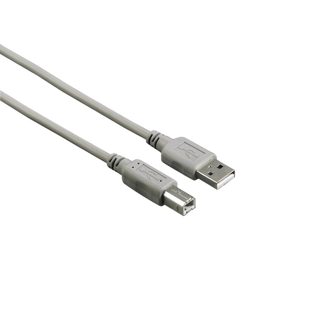 Кабел HAMA 29099 USB-A мъжко - USB-B мъжко, 1.8 м, Стандарт