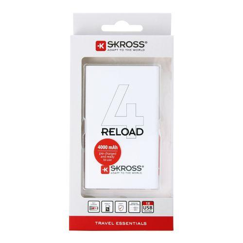 Външна батерия SKROSS RELOAD 4, 4000 mAh, Бял