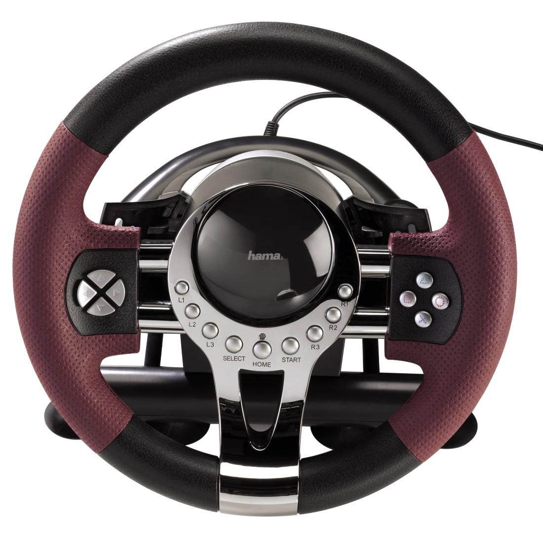 Волан HAMA-51845, Thunder V5 за компютър и Sony PS3, Черно / Червено