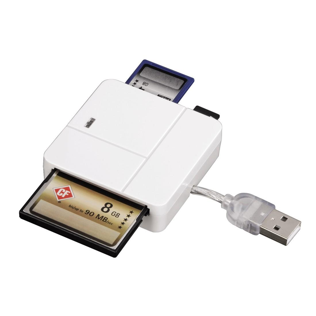 Четец за карти HAMA 94125 Multi, All in 1, USB 2.0, SD/micro SD/CF/MS/xD