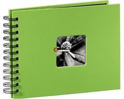 Албум със спирала HAMA Fine Art, 24 x 17 cm за 50 снимки, Зелен