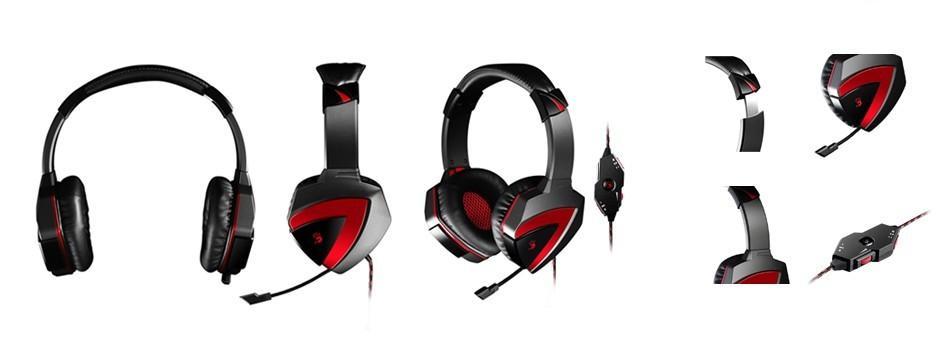 Геймърски слушалки A4TECH Bloody G501, Микрофон, Черно/Червено