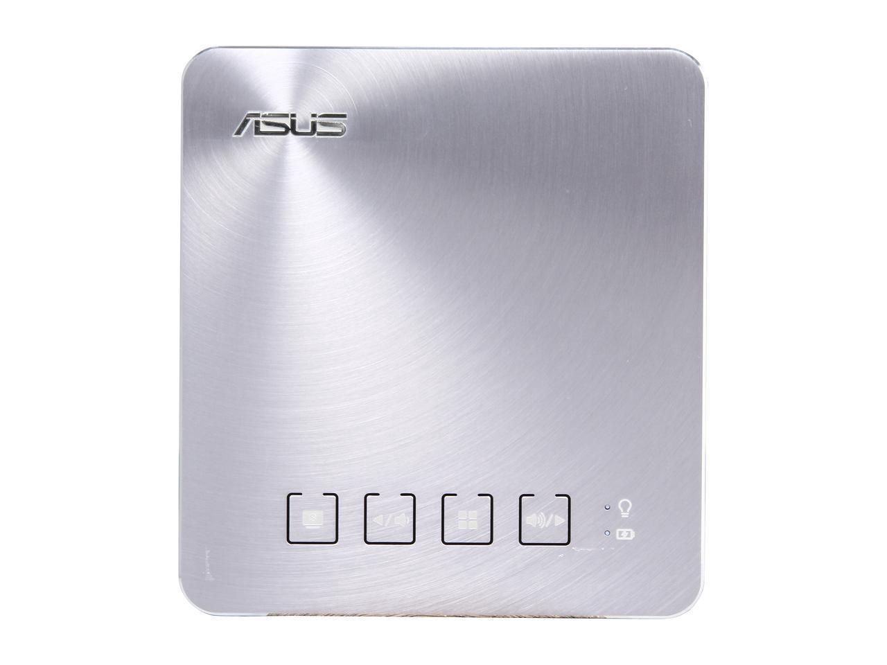 Преносим LED Видеопроектор ASUS S1 Silver, 200; 1 000:1; HDMI, USB, WVGA; 0.342kg; 6 000mAh батерия