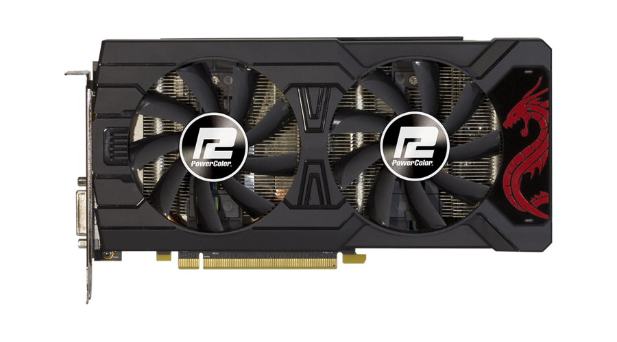 Видео карта PowerColor Red Dragon, Radeon RX 570, 4GB, GDDR5