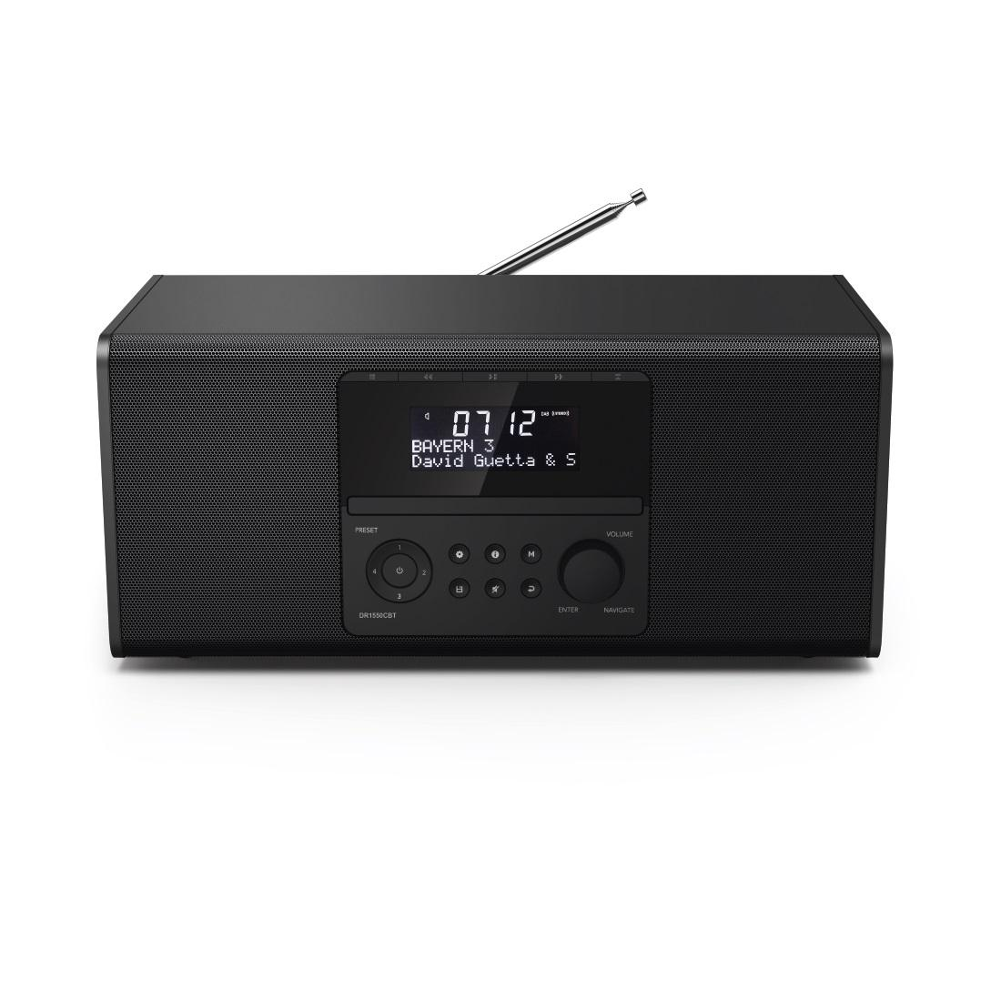 Цифрово/CD радио Hama DR1550CBT, FM/DAB/DAB+/CD/Bluetooth, Черен
