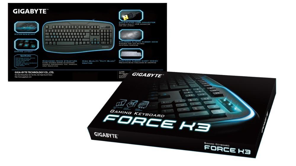 Геймърска клавиатура Gigabyte, Force K3 - Не кирлизирана