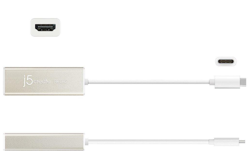 Адаптер j5create JCA153, USB-C към 4K HDMI