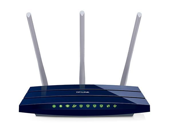 Безжичен рутер TP-Link TL-WR1043ND, 300Mbps, Гигабитова мрежа, 5dB сменяеми антени, USB