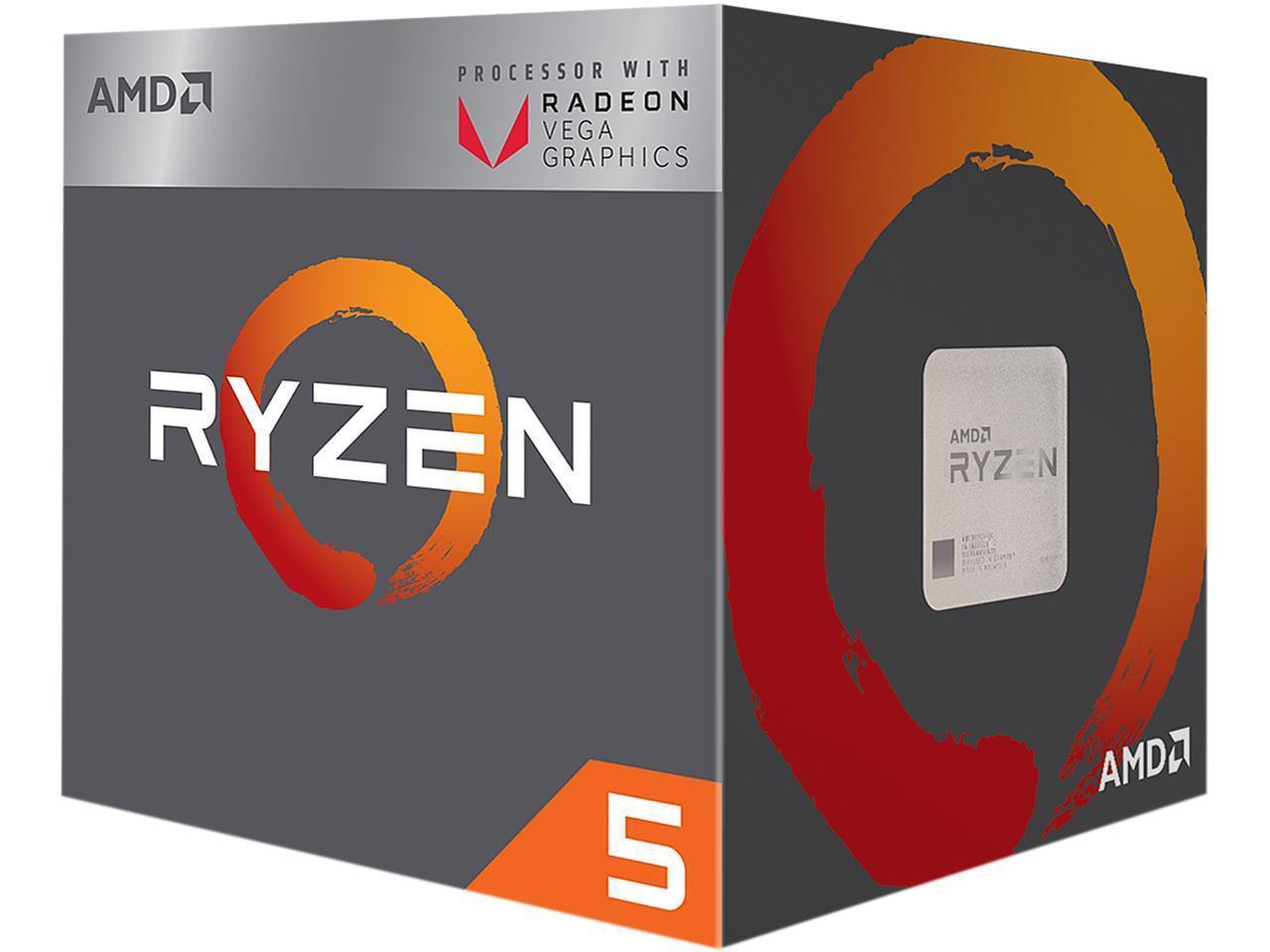 Процесор AMD RYZEN 5 2400G 4-Core 3.6 GHz (3.9 GHz Turbo) 6MB/65W/AM4, BOX