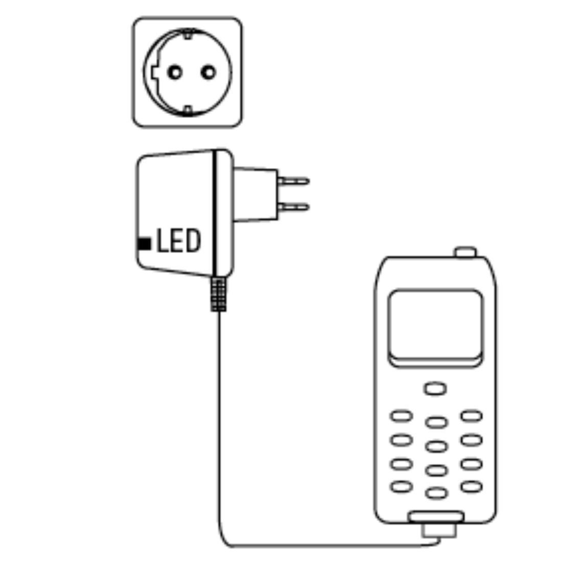 Зарядно с кабел HAMA 93585  220V / Micro USB 5V 1A