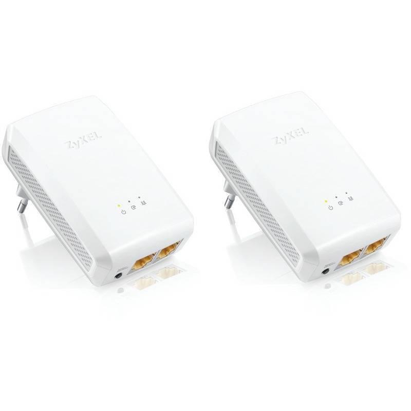 ZYXEL Powerline Gigabit Ethernet адаптер PLA5206, 1000 Mbps, 2 в пакет