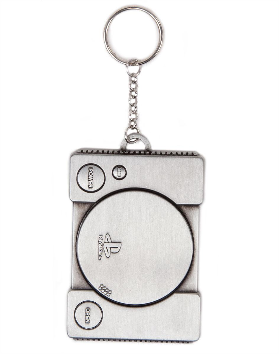 Ключодържател PlayStation - Console Metal Keychain 3D, Bioworld
