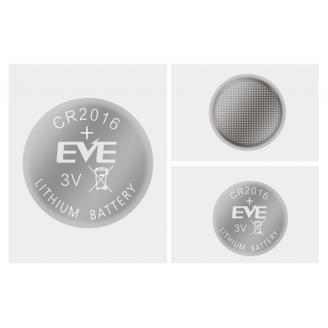Бутонна батерия литиева CR 2016 1pc  bulk 3V  EVE BATTERY