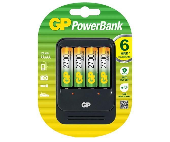 Зарядно у-во GP ,PB550GS270+4 AA NiMH 2700mAh FAST