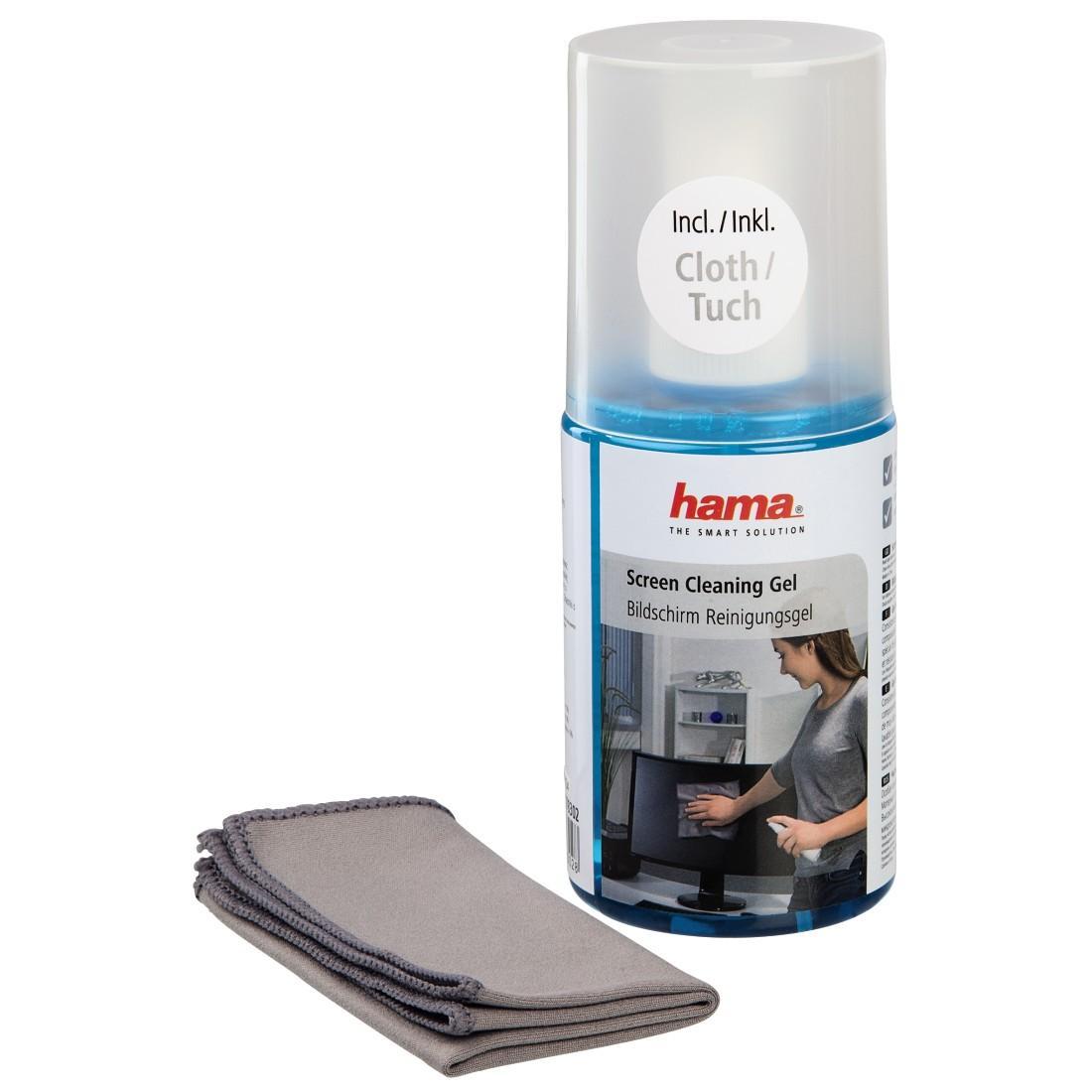 Почистващ гел HAMA за LCD, TFT, TV /телевизори/ с кърпа