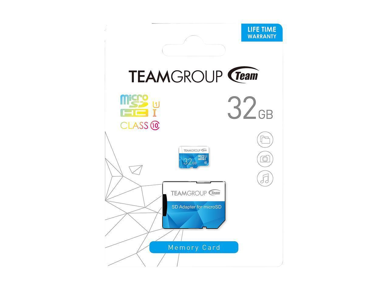 Карта памет Team Group Color microSDHC 32GB, UHS-I Class 10 + SD Адаптер