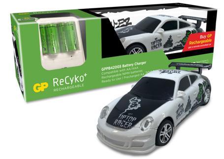 Зарядно у-во АА & ААА GPPB420+ 6 батерии АА 2000mA+ подарък кола с дистанционно управление GP BATTERIES