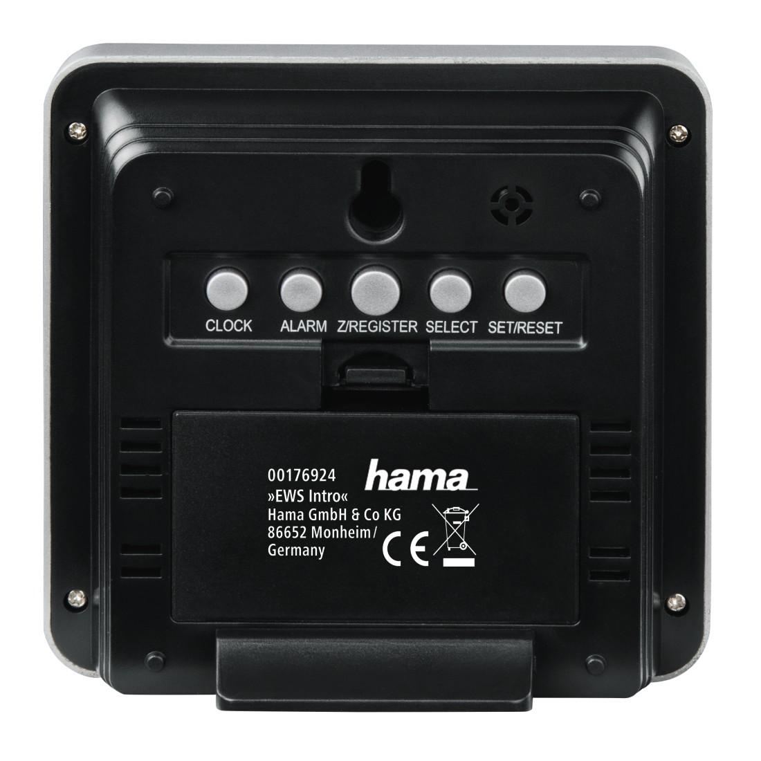 Електронна метеостанция HAMA EWS Intro 176924,Сив