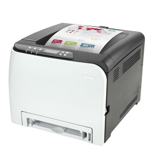 Цветен лазерен принтер RICOH SPC250DN, A4, 20 стр/мин