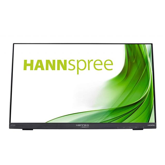 Тъч монитор HANNSPREE HT225HPB, LED, 21.5 inch, Wide, Full HD, Display Port, VGA, HDMI, Черен
