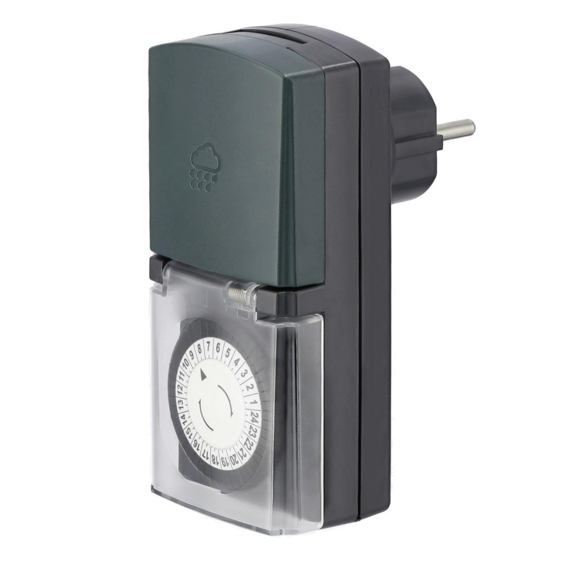 Механичен дневен таймер HAMA Mini, за външна употреба, Черен