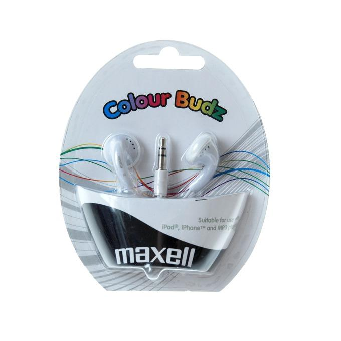 Слушалки  MAXELL color BUDS , In-Ear, Бял