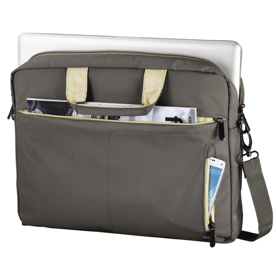 "Чанта за лаптоп HAMA Marseille Style 101283, 15.6"", Кафяв/Сив"