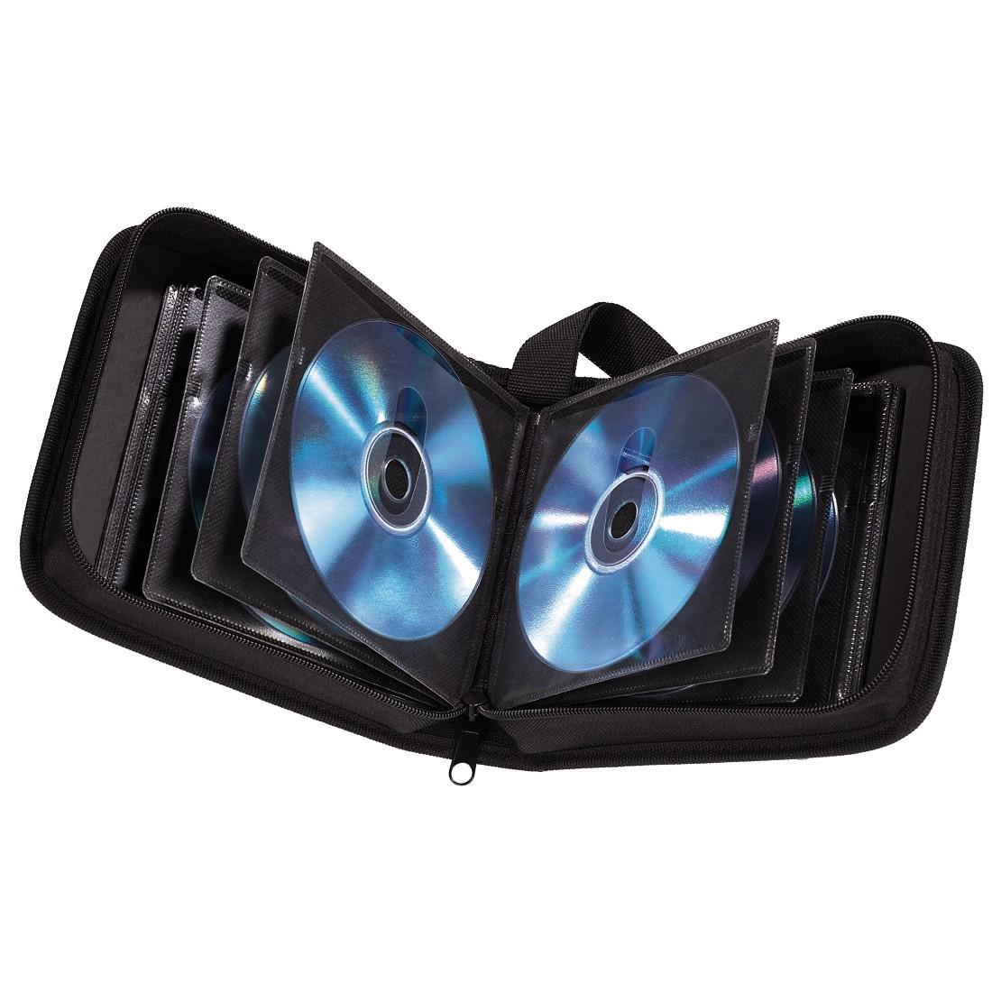 Класьор за 32 CD/DVD/Blu-ray HAMA, Черен